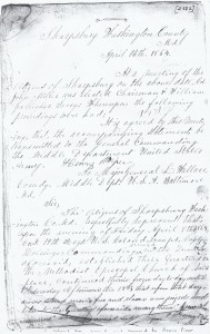 "Petition to return Henry Piper's slave Jeremiah Summers who was ""recruited"" to USCT service in 1864."