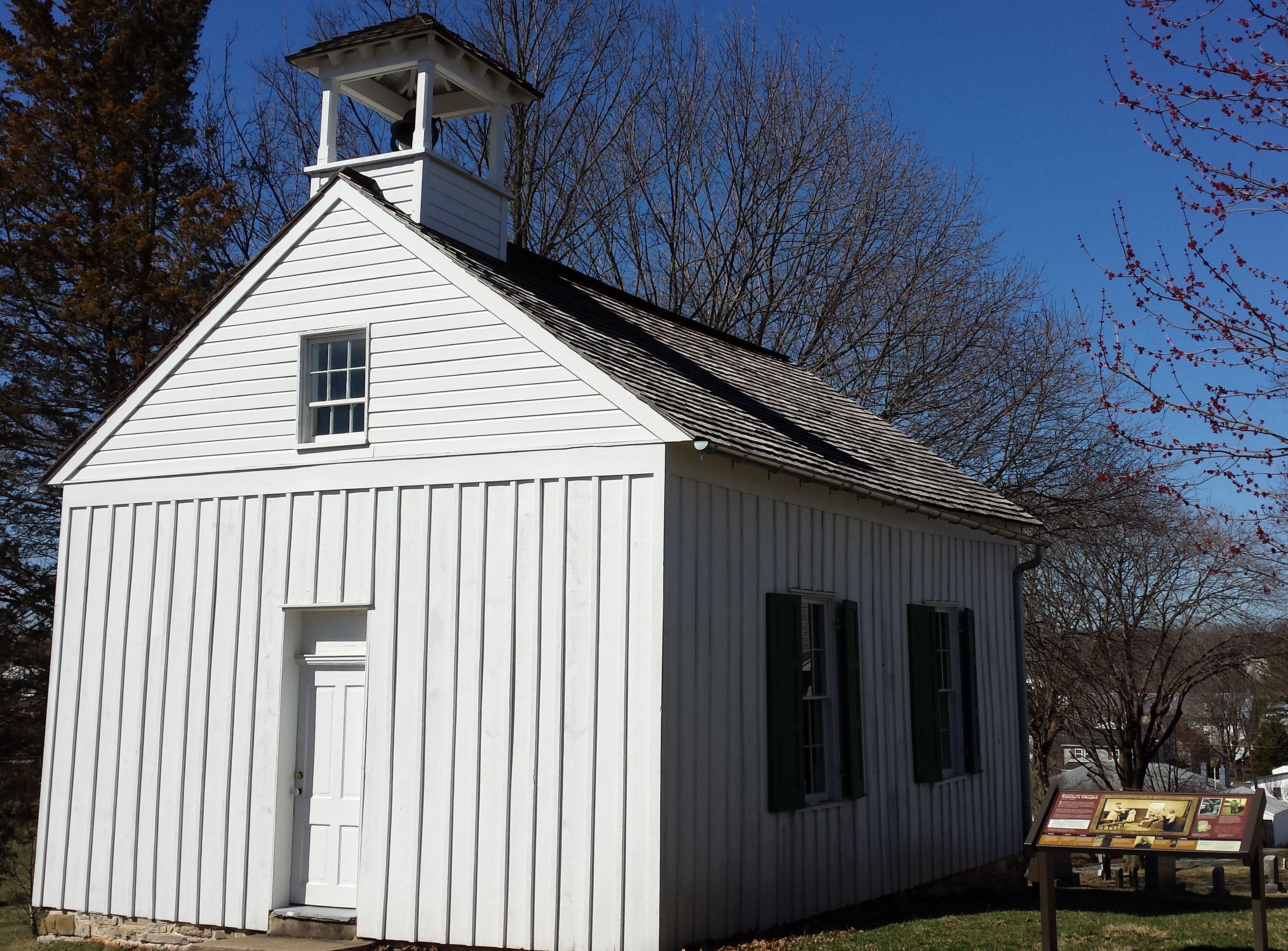 A View of Tolson's Chapel in 2017, after ther restoration.