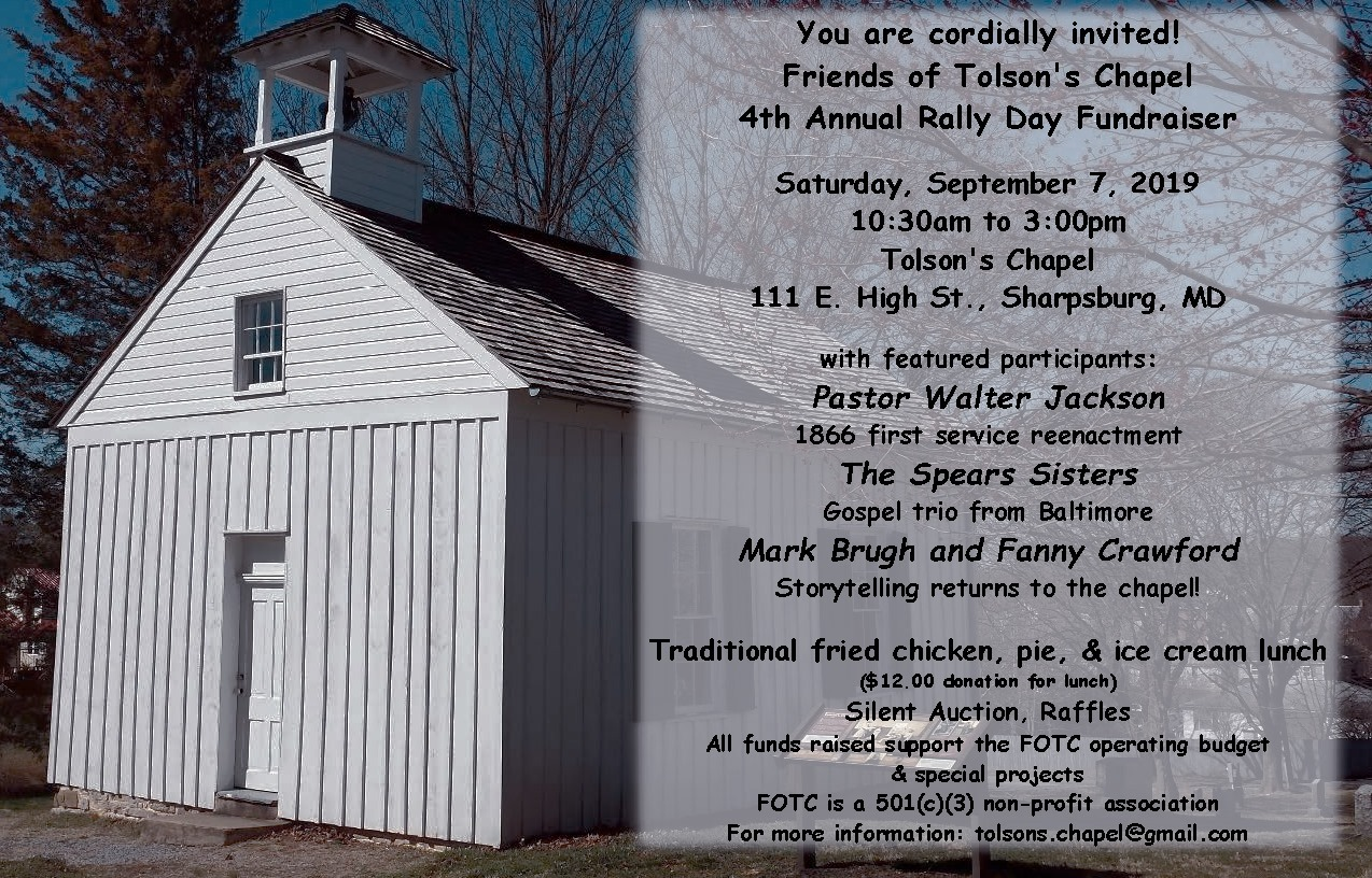 Image of the chapel with event schedule for September 7, 2019.